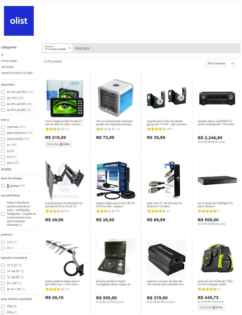 lojas de eletrônicos e artigos de informática