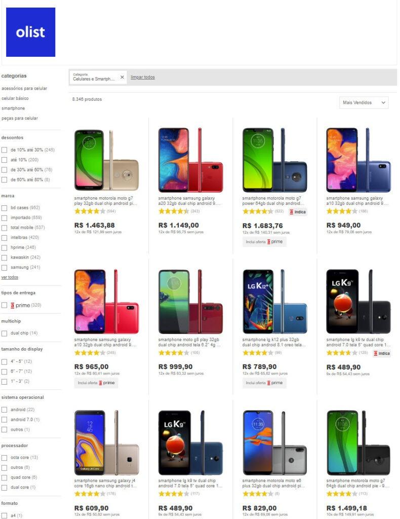 lojas de celulares e smartphones